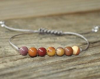 Mookaite Jasper, Heart, Solar Plexus, Base, Chakra Bracelet, Yoga Bracelet, Meditation Bracelet, Protection