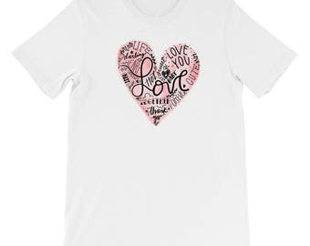 Love T-Shirt - Valentine Love Letters - Romantic Gift