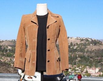 """Brown Leather """"Western"""" Jacket (Vintage / 70's)"""