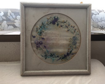 Very Old Framed Embroidery