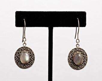 Labradorite 045 - Earrings - Sterling Silver