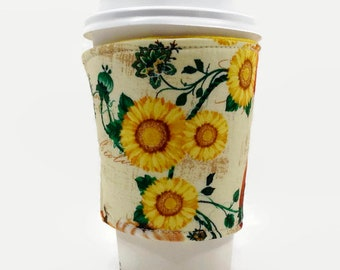 cup cozy, coffee sleeve, Mother's Day gift, coffee cozy, gift for her, reusable cup cozy, coffee warmer, birthday gift, mom gift