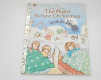 Vintage 1987, Clement C. Moore's, The Night Before Christmas (26) A Little Golden Book
