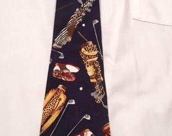 Navy Golf Necktie