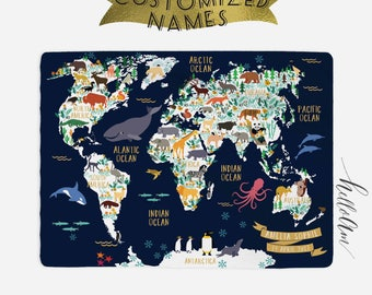 World map bedding etsy baby blanket world map blanket custom baby blanket baby month milestone blanket gumiabroncs Image collections