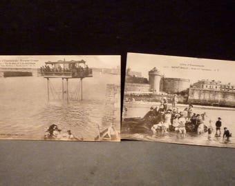 2 Aq. De Saint Malo's Emerald Coast, France Post Cards