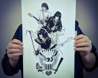 Ramones CBGB Band Music Punk Rock and Roll Poster Design // 11x17 Illustrated Art Print