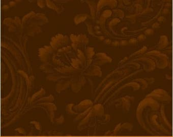 Mary's Blenders - Brown Floral Brocade (41482-29)