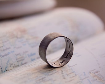 secret message: i love you (made to order) - ring