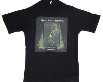Vintage Richard Dickey Betts Allman Bros Highway Call T Shirt XS Small 1970s