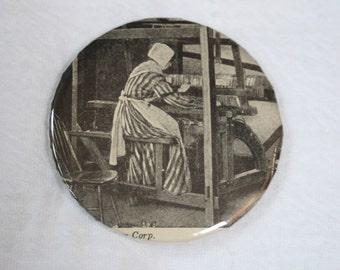 woman weaving magnet