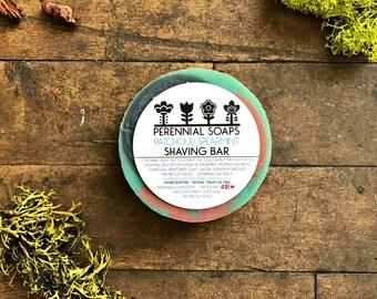 Patchouli Spearmint Shaving Soap - Vegan Artisan Soap with Shea Butter & Castor Oil