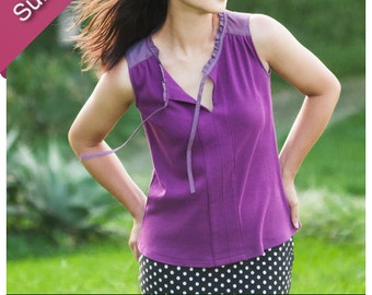 Vienna Tank Digital Sewing Pattern for Women (PDF)