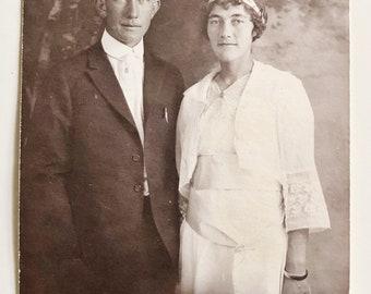 Original Antique Portrait Photograph   The Betrothed