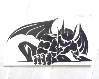 DIY Vinyl Decal of a Gargoyle Choose Size, Choose Vinyl Color, LapTops, Cell Phone, Car Windows, Coffee Cups, Drinking Cups, Frame It