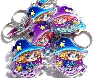 Cute Witches club keychain