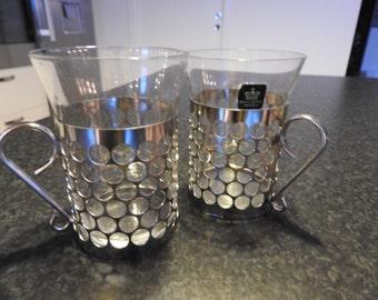 Kosta Boda,  Sweden , set of 2 for  hot or cold drink glasses/mid- century modern