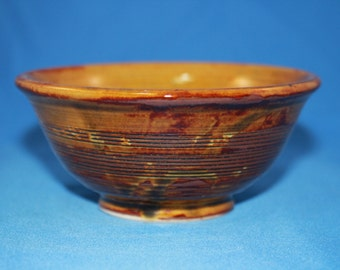 Brown and Red Spiral Ceramic Bowl, Soup Cereal Pasta Bowl, Small Dips Bowl, Modern Home Decor, Unique Kitchen Clay Bowl