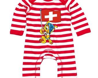 Switzerland World Cup Mascot Body Suit Humour Gift Present Baby Shower Birthday Novelty Onesie Memorabilia Commemorative Brazil 2014