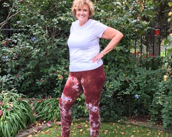 Plus Size Leggings Cosmic Collection Hand Dyed by Splash Dye Activewear