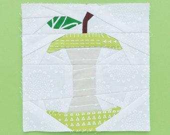 Apple core [fruit paper piecing pattern]