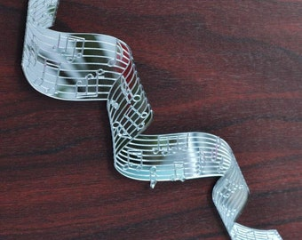 Twisted Music Bar with Notes Acrylic Mirror