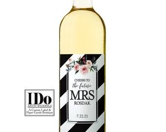 Future Mrs. Wine Label - Wedding Bottle Labels - Bridal Shower Wine Label - The Future Mrs - Hen Party Labels