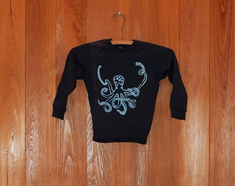 SALE shirt, octopus shirt, kids top, 4T