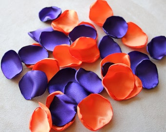 Purple and Orange Flower Petals * Wedding Decor * Baby Shower * Birthday Party * Table Decor