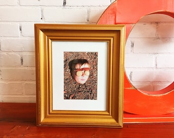 8x10 Picture Frame in Scully Style with Vintage Roman Gold Finish - Handmade 8x10 Photo Frame - IN STOCK - Same Day Shipping