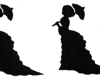 Crinoline Lady (Lady with umbrella) - WPC digital cutting file for Pazzles Inspiration