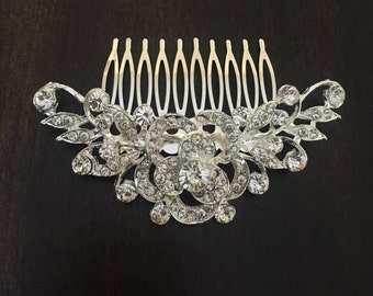 Vintage Inspired rhinestone bridal hair comb,sparkly crystal hair comb, wedding hair comb, bridal hair accessories, wedding hair accessories