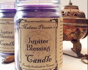 Planetary Magic Jupiter Prosperity & Success Blessing Candle