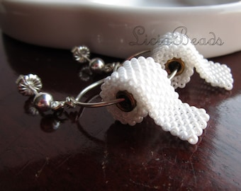 Toilet Paper earrings on sterling silver or gold plated posts
