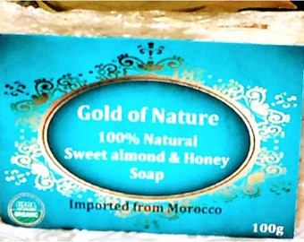 Organic Sweet Almond and Honey Soap-100g Handmade All natural Sweet Almond Soap
