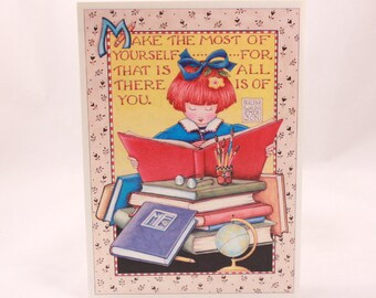 Mary Engelbreit Ink Greeting Card. Single Card with Envelope per purchase. Girl