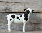 Needle Felted Sheep | Jacob Sheep | Wool Sheep Sculpture