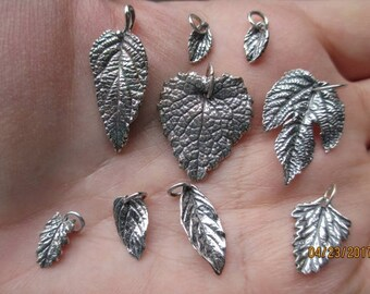 Sterling Silver Leaf Charms- You choose which one