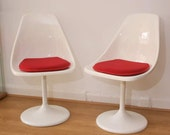RESERVED - 1960s Mid Century Arkana Tulip Dining Table by Maurice Burke with 2 Matching Tulip Dining Chairs