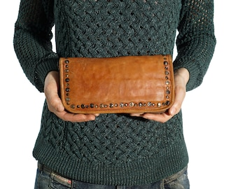 Handmade Wallet, Phone Wallet, Brown Leather Wallet, Brown Wallet, Thin Wallet,  Design Wallet, Wallet Strap, Large Wallets
