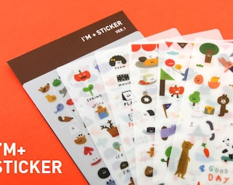 I'M Sticker Set - Deco Stickers - Masking Stickers - Diary Stickers - 6 sheets