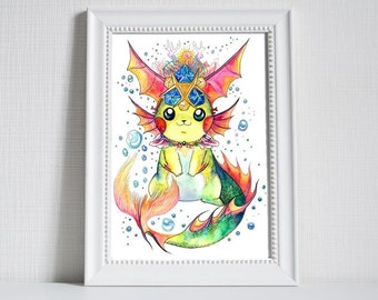 Jabu-Jabu-Chu! Pikachu and Zora's Sapphire/spiritual stone of water, Pokemon and Legend of Zelda Ocarina of Time Crossover