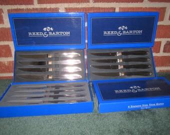 Reed & Barton Korea GOLDEN JUBILEE 12 pc Steak Knife Set MIB