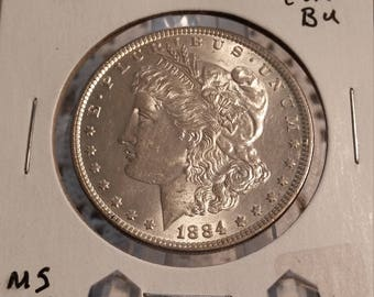 1884 Choice Gem BU MS 67 Morgan Silver Dollar
