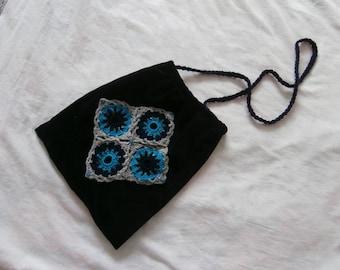 Bag - shoulder - velvet - dark blue