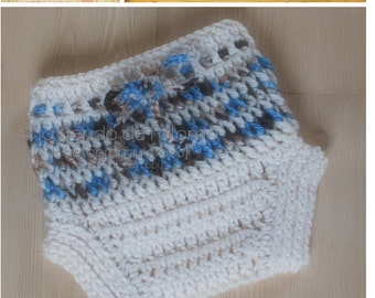 INSTANT DOWNLOAD - Crochet Diaper Cover Pattern - Perfect Fit Diaper Cover - Crochet Pattern
