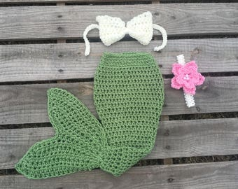 Mermaid Tail Photo Prop, Baby Mermaid Tail, mermaid fin, mermaid blanket, green mermaid tail, mermaid costume
