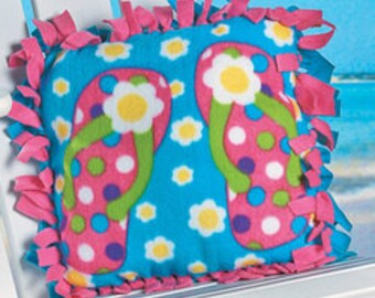 Fleece Flip Flop Pillow Kit ON SALE