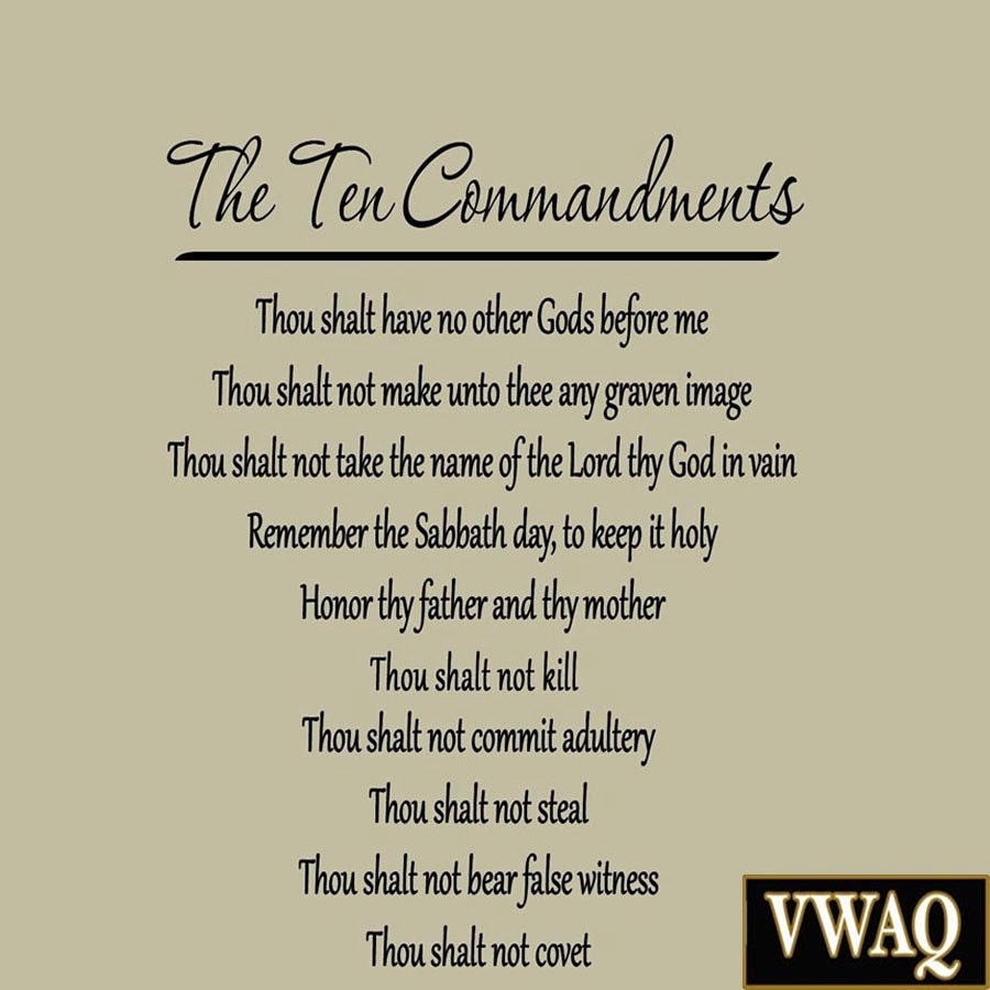 Customer Satisfaction Quotes The Ten Commandments Wall Decals Quotes Words Sayings Home