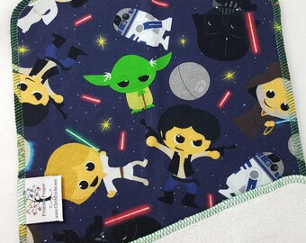 CLOTH WIPE, Star Wars, Yoda, R2D2, Vader,Bamboo Wipes,Wipes,Baby Washcloth,Unpaper,Reusable Wipes, Washable Towel, Baby Gift, Organic Bamboo
